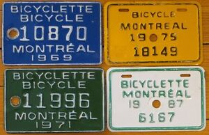 Looking for bicycle license plates Montréal