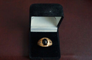 Mens Black Onyx and Diamond ring