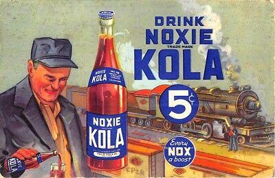 New York Ny Noxie Kola Co  Moxie Knock Off Railroad Train Advertising Postcard