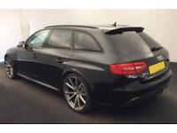 2015 BLACK AUDI RS4 AVANT 4.2 FSI QUATTRO PETROL ESTATE CAR FINANCE FR £146 PW