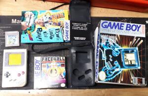 Original Nintendo Game Boy with games