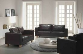 CHEAPEST EVER PRICE!! brand new box sofa - 3 and 2 seater faux leather sofa set