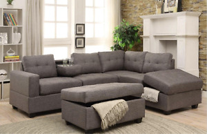 PROMO SOFA SECTIONNEL ST MARTIN GRIS