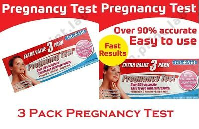New 3xUltra Early Home Urine Pregnancy HCG Accurate Test Stick Stripe Kit Glove