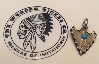 Quarter Hand cut Coin Arrowhead Necklace Pendant Charm Keychain Jewelry Arrow