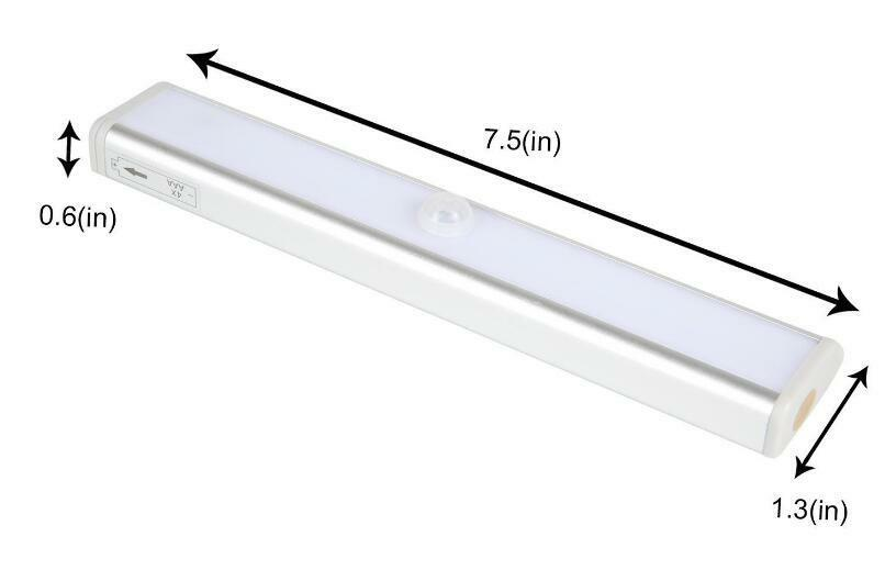 10 led light bar battery operated wireless motion sensor detector night light ebay. Black Bedroom Furniture Sets. Home Design Ideas