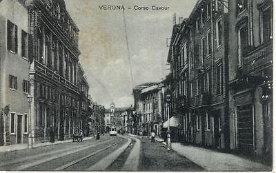 VERONA CORSO CAVOUR TRAM PRIMI '900