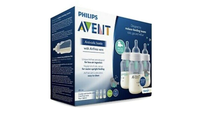 Phillips Avent Anti-colic Baby Bottle With Air-Free Vent.  3-Pack 9oz/260 ml.