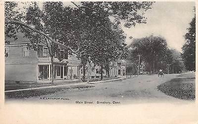 Simsbury  Ct   Main Street   Lathrops Store   A E  Lathrop  Pub    C  1906
