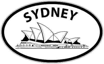 Sydney Australia Oval Car Bumper Window Sticker Decal 6 X4