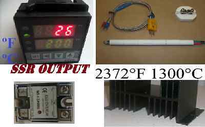 Pid Temperature Controller Kiln Probe Ssr Relay Hs 60a Paragon Pottery Glass Fc