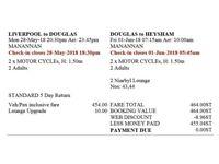 Isle of Man Ferry Tickets - Mon 28 May (20:30) - Fri 1 Jun (07:15)