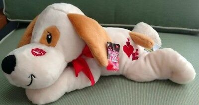 The Petting Zoo Valentines Collection Plush Puppy Dog With Floppy Ears (Dogs With Floppy Ears)
