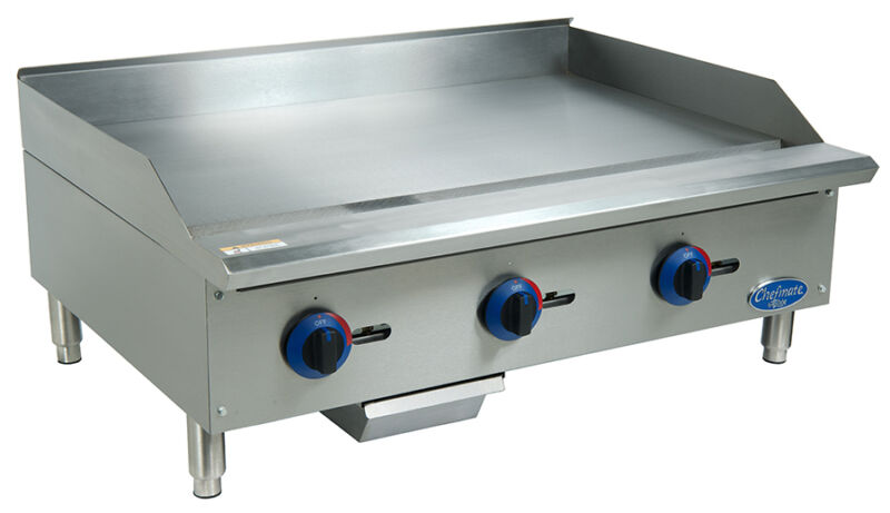 "Globe C36gg 36"" Chefmate Counter-top Gas Griddle - Manual Controls"