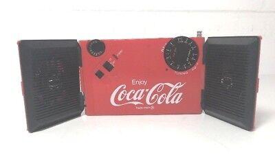 Vintage Coca-Cola Mini BOOMBOX Radio WALKMAN Portable Speakers AM/FM Transistor