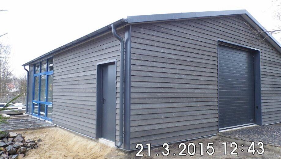 Isolierte Stahlhalle/ Garage 10 x 10 x 3/ 4,30 m  NEU!!