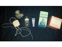 Electric breast pump, cream & pads
