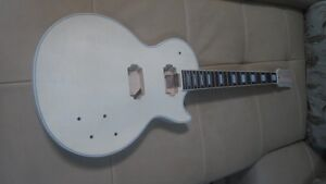 Unfinished-electric-guitar-body-with-neck
