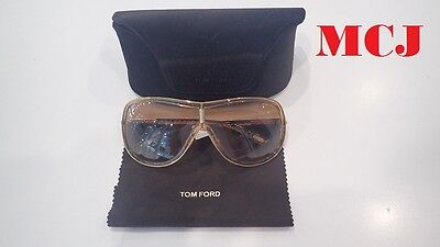 'New' Tom Ford Andrea TF54 614 Brown Shades Gold Tone Trim