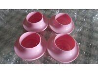 4 original retro egg cups