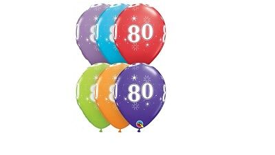 80th [6ct] Sparkle Anniversary Balloon Qualatex 80's Birthday Party Decorations for sale  Beverly Hills
