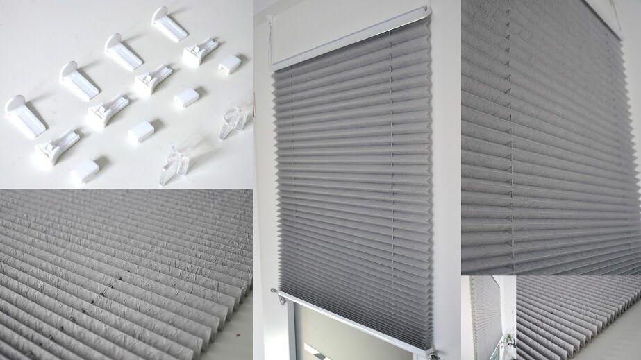 PLISSEE Jalousie Klemmfix Fenster Türe Faltstore Rollo Sichtschutz Klemmträger