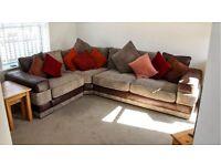 Furniture Village Cord Corner sofa