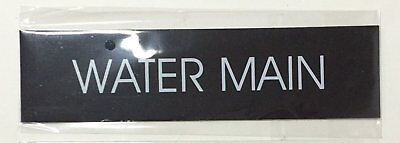 Water Main Sign Black Aluminum