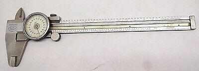 Helios 6.5 Dial Caliper .001 Metric Germany Stainless Steel Hardened