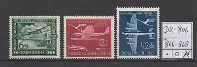 Deutsches Reich, Michel Nr. 866 - 868 (Luftpostdienst) tadellos postfrisch.