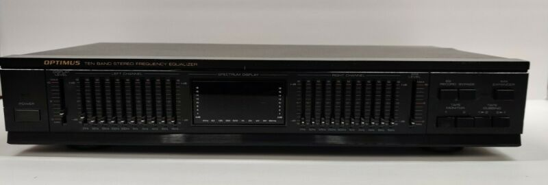 Optimus 31-2025 Stereo Graphic Equalizer with 3-Color Spectrum Analyzer 10