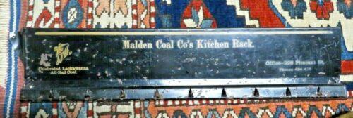 Malden Coal Company Kitchen Rack - Advertising D & H Lackawanna Anthracite Coal