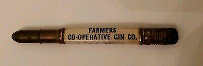 Vintage Rare Bullet Pencil Farmers Co-operative Gin Co. Perry TX Texas