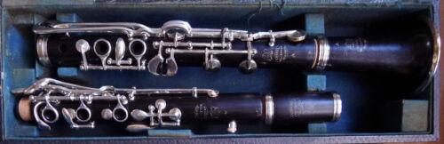 Vintage Penzel Mueller A LP 5 Ring Albert System Wood Clarinet Overhauled