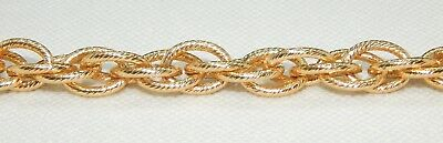 CHAIN 6.35mm Double  Link Plated  Gold Color Jewelry Chain Roll (FOOT) $2.00