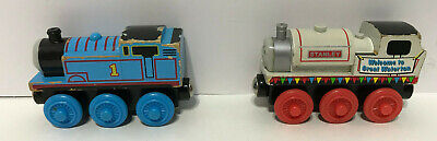Lot of 2 Thomas & Friends Wooden Railway Tank Engine Trains Thomas & Stanley