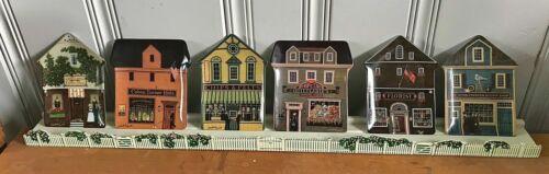 Lot of 6 Charles Wysocki'96  Folktown Collector Plates w/ Shelf Free Ship