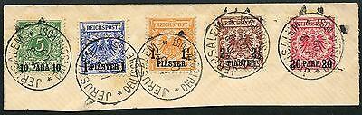 49/DP Türkei 1900 Krone/Adler 6-10 ° Jerusalem Ersttag 1.3.1900 Geprüft BPP