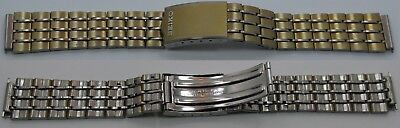 Seiko Gold Plated Bracelet - Seiko bracelet 16 mm end gold plated & s. steel 158 mm