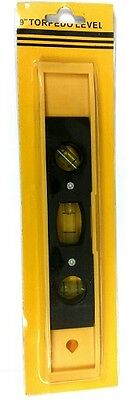 9  Yellow Abs Magnetic Torpedo Level Small Handheld Straight Even Shelving Tool
