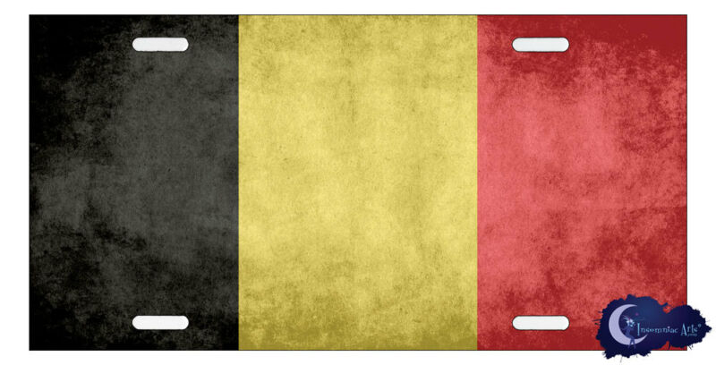 Belgian Flag License Plate - Flag of Belgium