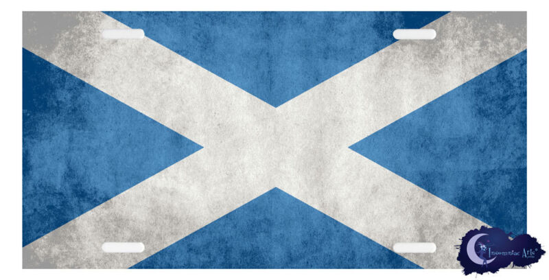 Scottish Flag License Plate Cover - Scotland, Scot