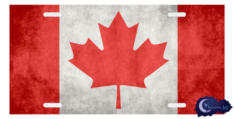 Canadian Flag License Plate - Canada - Maple Leaf