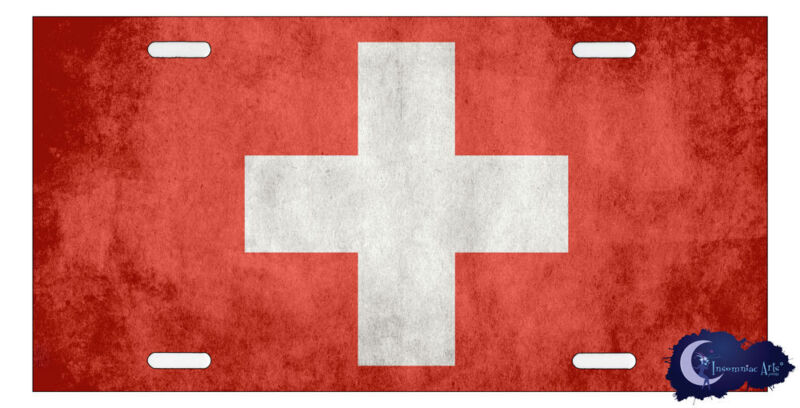 Swiss Flag License Plate - Flag of Switzerland