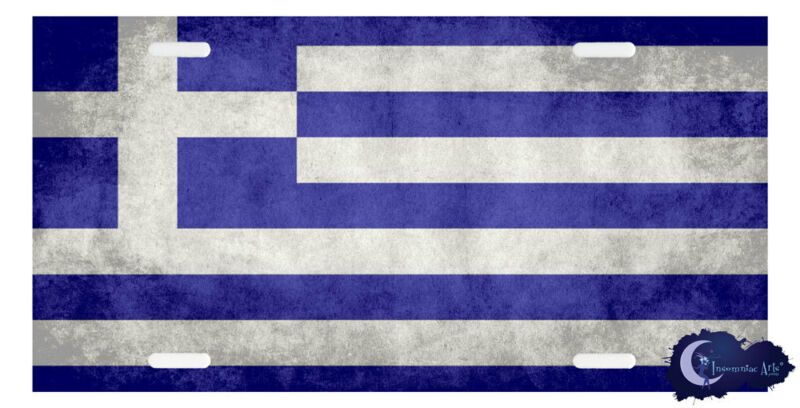 Greek Flag License Plate Cover - Greece