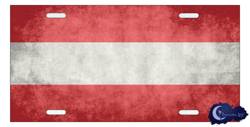 Austrian Flag License Plate - Flag of Austria