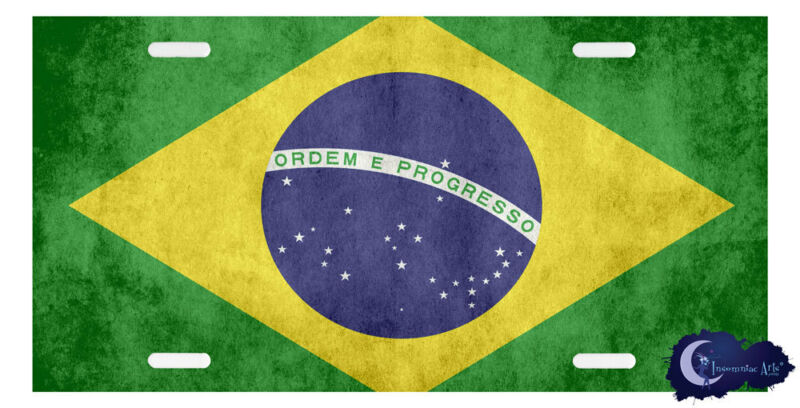 Brazilian Flag License Plate Cover - Brasil, Brazil