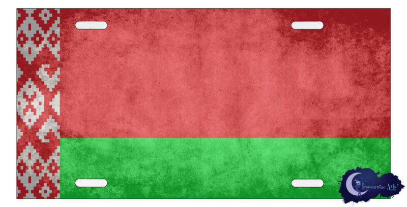 Belarusian Flag License Plate - Flag of Belarus