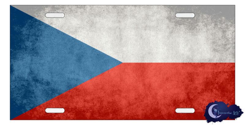 Czech Republic Flag License Plate Cover  - European