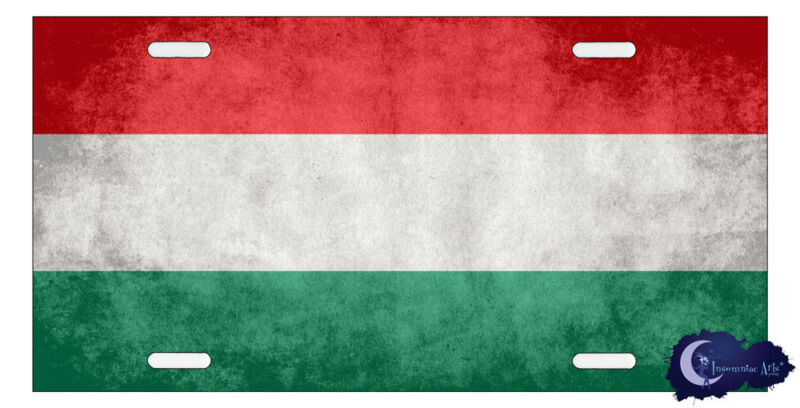 Hungarian Flag License Plate Cover - Flag of Hungary